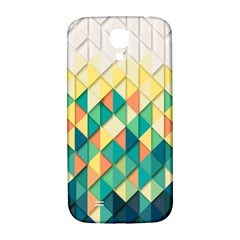 Background Geometric Triangle Samsung Galaxy S4 I9500/i9505  Hardshell Back Case by Nexatart