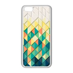 Background Geometric Triangle Apple Iphone 5c Seamless Case (white)
