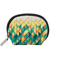 Background Geometric Triangle Accessory Pouches (small)