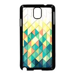 Background Geometric Triangle Samsung Galaxy Note 3 Neo Hardshell Case (black) by Nexatart