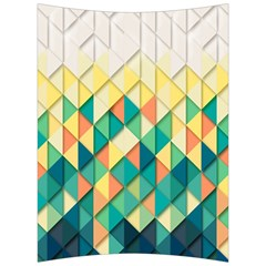 Background Geometric Triangle Back Support Cushion