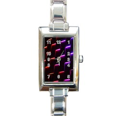 Mode Background Abstract Texture Rectangle Italian Charm Watch