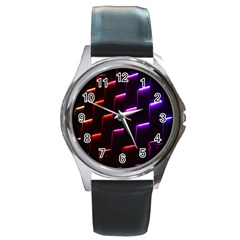 Mode Background Abstract Texture Round Metal Watch