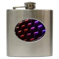 Mode Background Abstract Texture Hip Flask (6 Oz)