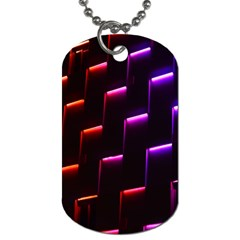 Mode Background Abstract Texture Dog Tag (two Sides)
