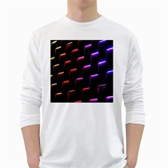 Mode Background Abstract Texture White Long Sleeve T Shirts