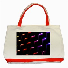 Mode Background Abstract Texture Classic Tote Bag (red)