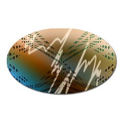Pop Art Edit Artistic Wallpaper Oval Magnet