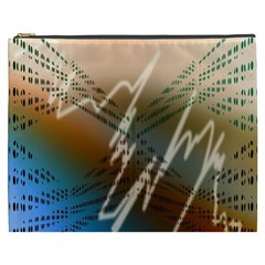 Pop Art Edit Artistic Wallpaper Cosmetic Bag (xxxl)