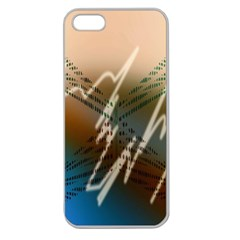 Pop Art Edit Artistic Wallpaper Apple Seamless Iphone 5 Case (clear)