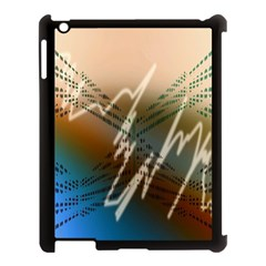 Pop Art Edit Artistic Wallpaper Apple Ipad 3/4 Case (black)