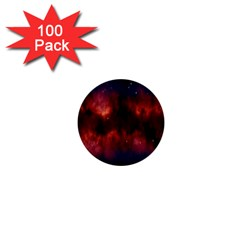 Astronomy Space Galaxy Fog 1  Mini Buttons (100 Pack)