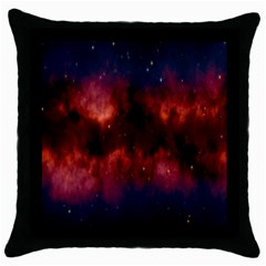 Astronomy Space Galaxy Fog Throw Pillow Case (black) by Nexatart