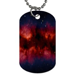 Astronomy Space Galaxy Fog Dog Tag (one Side)