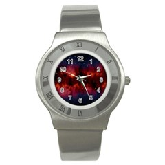 Astronomy Space Galaxy Fog Stainless Steel Watch