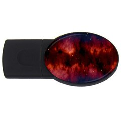 Astronomy Space Galaxy Fog Usb Flash Drive Oval (4 Gb)