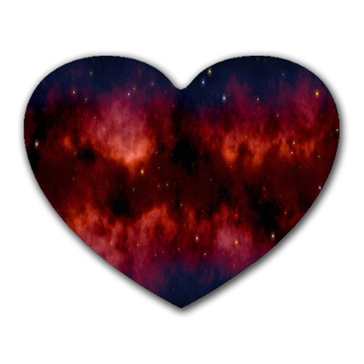 Astronomy Space Galaxy Fog Heart Mousepads
