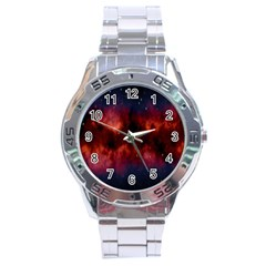 Astronomy Space Galaxy Fog Stainless Steel Analogue Watch