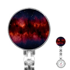 Astronomy Space Galaxy Fog Stainless Steel Nurses Watch