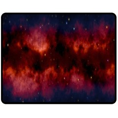 Astronomy Space Galaxy Fog Double Sided Fleece Blanket (medium)