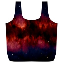 Astronomy Space Galaxy Fog Full Print Recycle Bags (l)