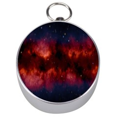 Astronomy Space Galaxy Fog Silver Compasses by Nexatart
