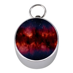Astronomy Space Galaxy Fog Mini Silver Compasses by Nexatart