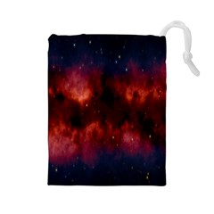 Astronomy Space Galaxy Fog Drawstring Pouches (large)  by Nexatart