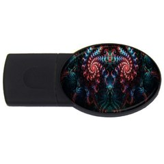 Abstract Background Texture Pattern Usb Flash Drive Oval (2 Gb)