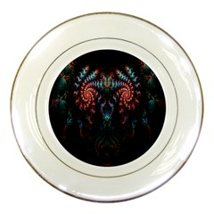 Abstract Background Texture Pattern Porcelain Plates