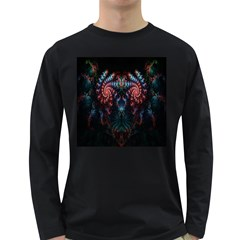 Abstract Background Texture Pattern Long Sleeve Dark T Shirts