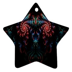 Abstract Background Texture Pattern Star Ornament (two Sides)