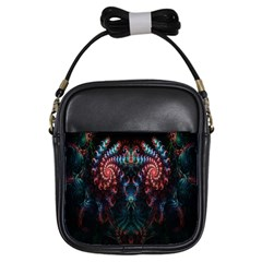 Abstract Background Texture Pattern Girls Sling Bags