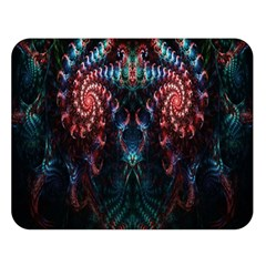 Abstract Background Texture Pattern Double Sided Flano Blanket (large)