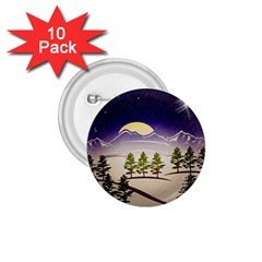 Background Christmas Snow Figure 1 75  Buttons (10 Pack) by Nexatart