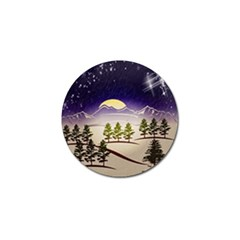 Background Christmas Snow Figure Golf Ball Marker (10 Pack)