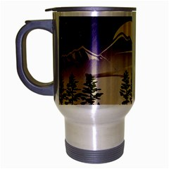 Background Christmas Snow Figure Travel Mug (silver Gray)