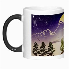 Background Christmas Snow Figure Morph Mugs