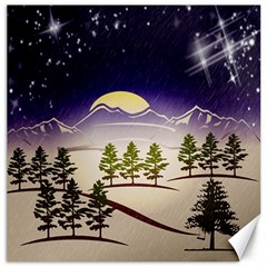 Background Christmas Snow Figure Canvas 20  X 20