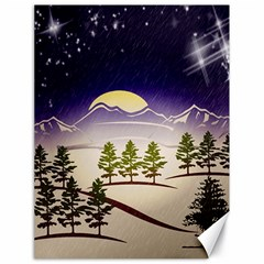 Background Christmas Snow Figure Canvas 18  X 24