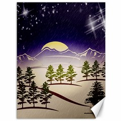 Background Christmas Snow Figure Canvas 36  X 48