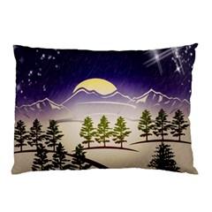 Background Christmas Snow Figure Pillow Case