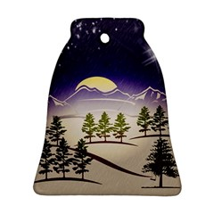 Background Christmas Snow Figure Ornament (bell)