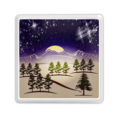 Background Christmas Snow Figure Memory Card Reader (square)  by Nexatart