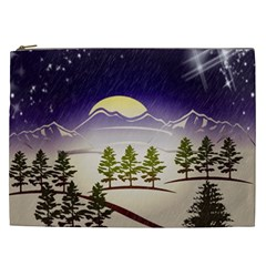 Background Christmas Snow Figure Cosmetic Bag (xxl)
