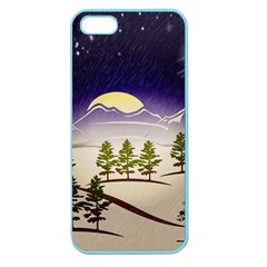 Background Christmas Snow Figure Apple Seamless Iphone 5 Case (color)