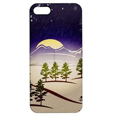 Background Christmas Snow Figure Apple Iphone 5 Hardshell Case With Stand by Nexatart