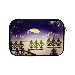 Background Christmas Snow Figure Apple Ipad Mini Zipper Cases