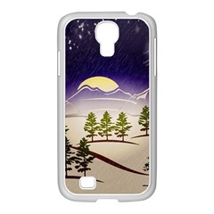 Background Christmas Snow Figure Samsung Galaxy S4 I9500/ I9505 Case (white)