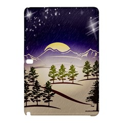 Background Christmas Snow Figure Samsung Galaxy Tab Pro 10 1 Hardshell Case